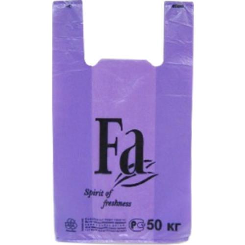 Пакет полиэтиленовый майка Fa сиреневый, 30х54 см