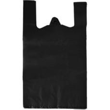 Пакет-майка ПНД, цвет чёрный, 30х56 см