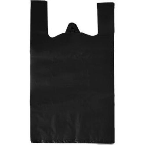 Пакет полиэтиленовый майка черный, 56х30 см