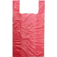Пакет-майка ПНД, цвет красный, 24х44 см