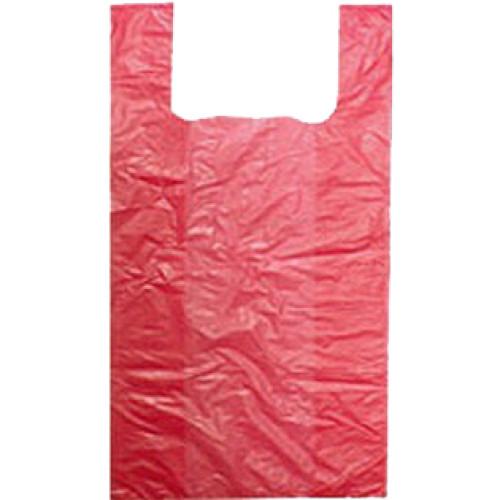 Пакет полиэтиленовый майка красный, 24х40 см