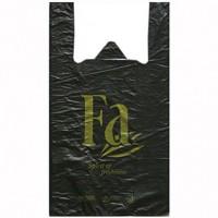 Пакет полиэтиленовый майка Fa черный, 30х54 см