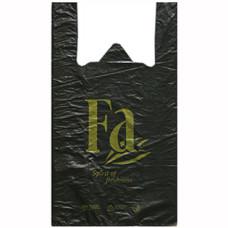 Пакет-майка ПНД Fa (Фа), цвет чёрный, 30х54 см
