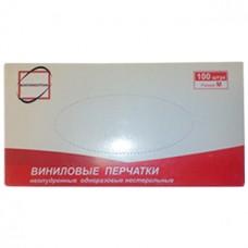 Перчатки виниловые одноразовые, размер М, 100 шт