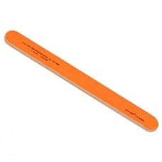 Пилка прямая для натуральных и искусственных ногтей 120/180 Zinger (Зингер) Ярко-оранжевая zo EJ-504
