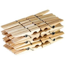 Прищепка бельевая деревянная, 36 шт