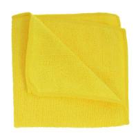 Салфетка из микрофибры (без упаковки) желтая, 30х30 см