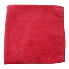 Салфетка из микрофибры (без упаковки) красная, 30х30 см