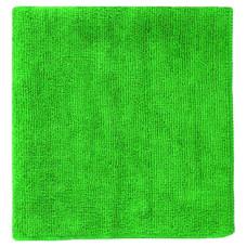 Салфетка из микрофибры (без упаковки) зеленая, 30х30 см