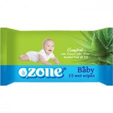 Детские влажные салфетки Ozone Алоэ вера, 15 шт