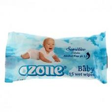 Детские влажные салфетки Ozone Календула и витамин Е, 15 шт