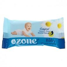 Детские влажные салфетки Ozone Ромашка, 15 шт