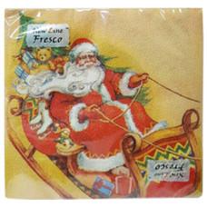 Салфетки сервировочные Fresco (Фреско) Веселые сани, 33*33 см (20 шт)