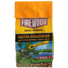 Щепа ольховая для копчения Firewood, 200 г