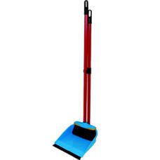 Комплект совок с резинкой + сметка (длинная ручка) Ленивка, 19,5*25*90 см