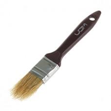 Кисть малярная плоская LOM, натуральная щетина, пластиковая ручка 1, (25 мм)