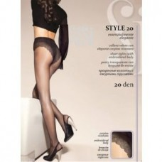Колготки SISI Style 20 den, Nero (черный), 3 размер