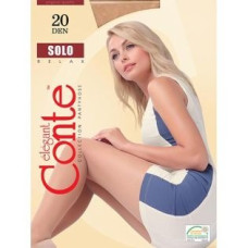 Колготки Conte Solo (Конте Соло) Nero (черный), 3 размер, 20 den
