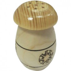 Солонка-перечница деревянная Грибы, цвет белый