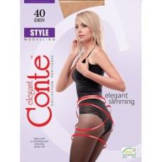 Колготки Conte Style (Конте Стайл), Bronz (загар), 40 den, 2 размер