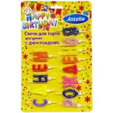 Свечи для торта фигурные С Днем Рождения, 13 шт