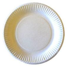 Тарелка бумажная белая Антелла, д175 мм, 6 шт