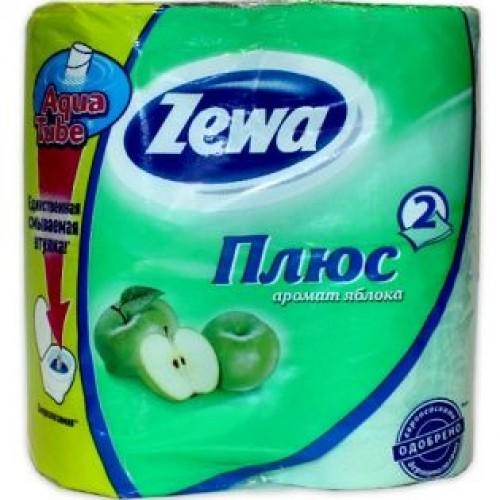 Туалетная бумага Zewa Плюс (Зева) 2-х слойная  Яблоко