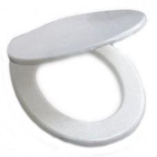 Сиденье на унитаз, цвет белый, 40х34 см