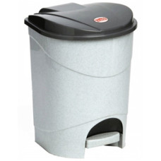 Ведро для мусора с педалью пластмассовое (цвет мраморный) 19 л, в комплекте с внутренним ведром