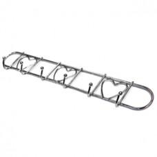 Вешалка-планка хромированная Сердечки, 6 крючков, 32 см, 5,5 см