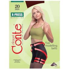 Колготки Conte X-Press (Конте Экспресс), Bronz (загар), 20 den, 2 размер