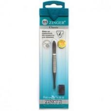 Пинцет скошенный Zinger (Зингер) zo B-158-FD-SH Оригинал с ручной заточкой