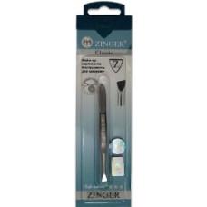 Пинцет скошенный Zinger (Зингер) zo B-166-D-SH Оригинал с ручной заточкой