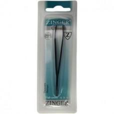 Пинцет прямой черного цвета Zinger (Зингер) ZSP TS-104-str