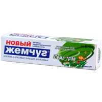 Зубная паста Новый Жемчуг Семь трав, 100 мл