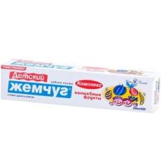 Зубная паста детская Детский Жемчуг Волшебные Фрукты, 50 мл
